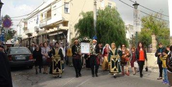 Η Ιερή εικόνα της Παναγίας Ευαγγελίστριας του Κιόστε στη Μητρόπολη Χίου