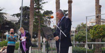 Ο Σταύρος Μιχαηλίδης, Ναύαρχος ε.α. στο βήμα