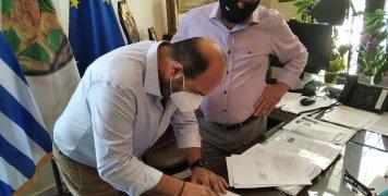 Έπεσαν οι υπογραφές για την ολοκλήρωση της οδού Ιωάννη Χρήστου