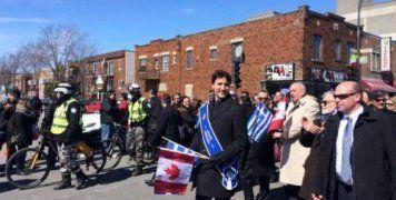 Ο πρωθυπουργός του Καναδά ήταν μαζί με τον Τέρενς Κουίκ στην παρέλαση της 25ης Μαρτίου στο Μόντρεαλ