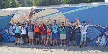 Οι Ανιχνευτές της Μυτιλήνης έξω από το Ίδρυμα Τσάκου