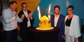 Από αριστερά ο Vincent Teekens, γενικός διευθυντής ασφαλιστικών εργασιών, ο Πάνος Κούβαλης, διευθυντής Anytime - Direct Business, ο Σπύρος Οικονόμου, Head of Anytime Cyprus και η Καίτη Αλεξάνδρου-Φωτιάδου, Head of Anytime Cyprus Operations.