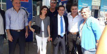Με την Άννα Μισέλ Ασημακοπούλου, τον Σταύρο Καλαφάτη και τον Θόδωρο Ζαγοράκη