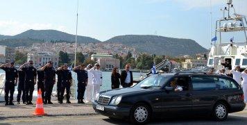 φωτο αρχείου από την κηδεία του Λιμενικού Κυριάκου Παπαδόπουλου στη Λέσβο
