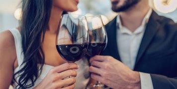 γυναίκα, άνδρας, κρασί