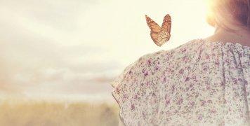 φύση, πεταλούδα, γυναίκα