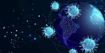 earth-surrounded-by-coronavirus-microbes