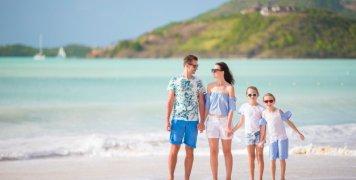 οικογένεια, παραλία
