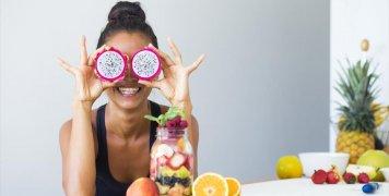 υγιεινή διατροφή, γυναίκα, χαμόγελο
