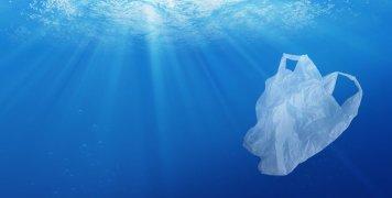 θάλασσα, πλαστική σακούλα