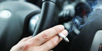 κάπνισμα, τσιγάρο, οδήγηση