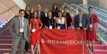 Η ομάδα των συνεργατών του Δικτύου Πωλήσεων της INTERAMERICAN, που ταξίδεψαν στο Μαϊάμι για το Συνέδριο του MDRT.
