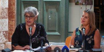 Η Πρόεδρος του ΦΟΧ, Μαρία Βασιλακάκη-Ντούλου με την κα Μαντόγλου