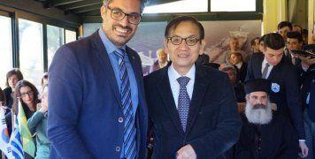 Ο Μιχάλης Μπελέγρης με τον Πρέσβη της Ν. Κορέας