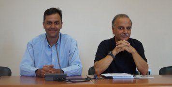 Γιώργος Μπελέγρης και Λάκης Τσακός ανακοινώνουντην ενεργειακή αναβάθμιση 5 σχολικών μονάδων της Χίου