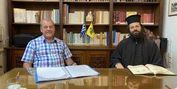 Ο Γιάννης Χονδρέλλης με τον π. Δημήτριο Μαστρογιαννάκη
