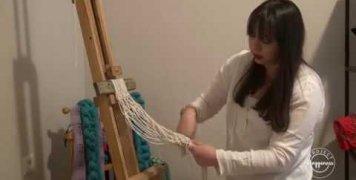 Project Happiness: Διακοσμητικό για γλαστράκια με μακραμέ απο τη Δώρα Μαγγανά